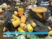 На окраине села Мезенское обнаружены медицинские отходы.